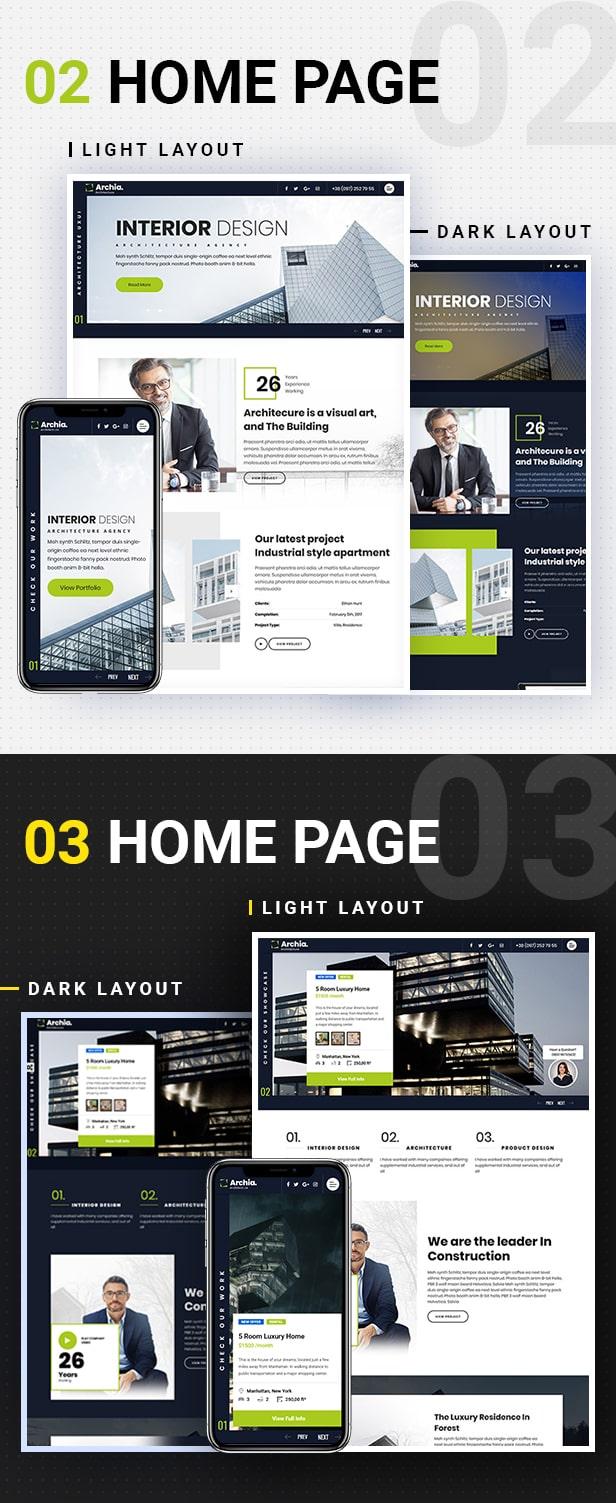 Archia - Architecture and Interior Design RTL Ready Template - 3
